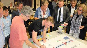 Ondernemers en bewoners spreken hun voorkeuren en wensen uit tijdens werksessie Winkelvisie Nieuwegein